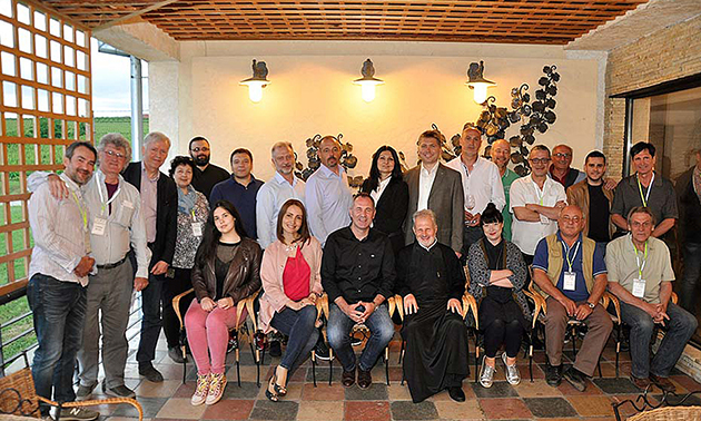 THE VISIT OF RESPECTABLE WINE JOURNALISTS FROM ALL OVER THE WORLD